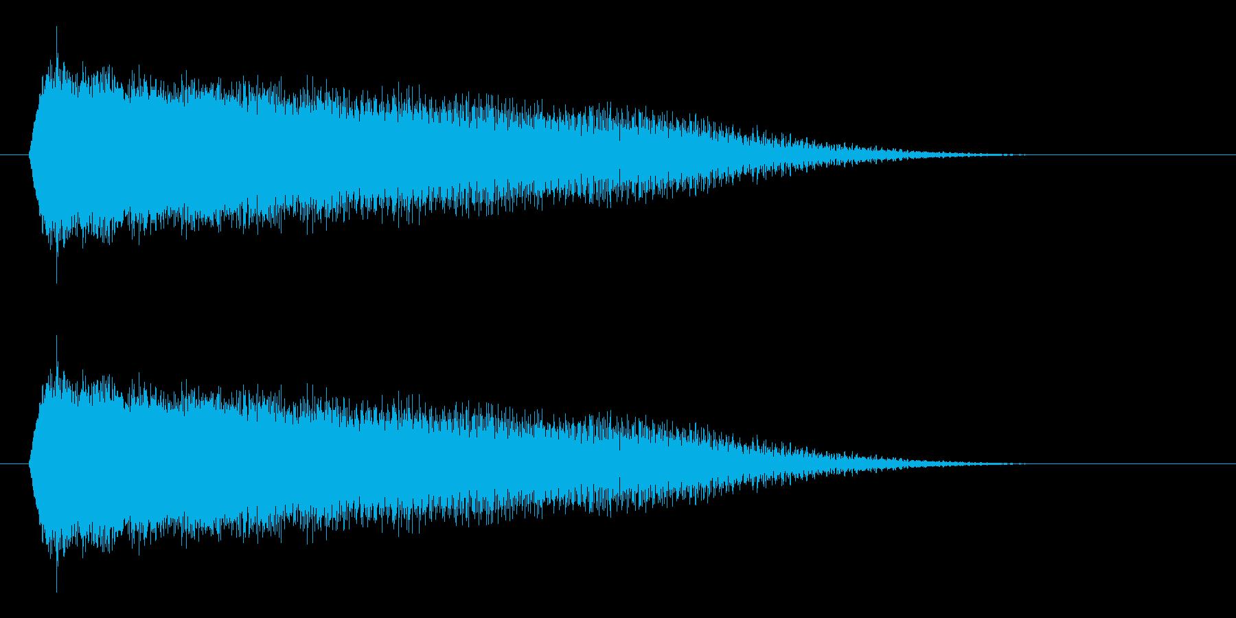 パワーダウン/下がる/場面転換の再生済みの波形
