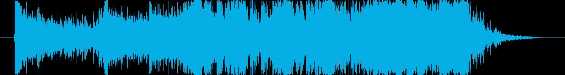 クイズ、危機迫る、カウントダウンジングルの再生済みの波形