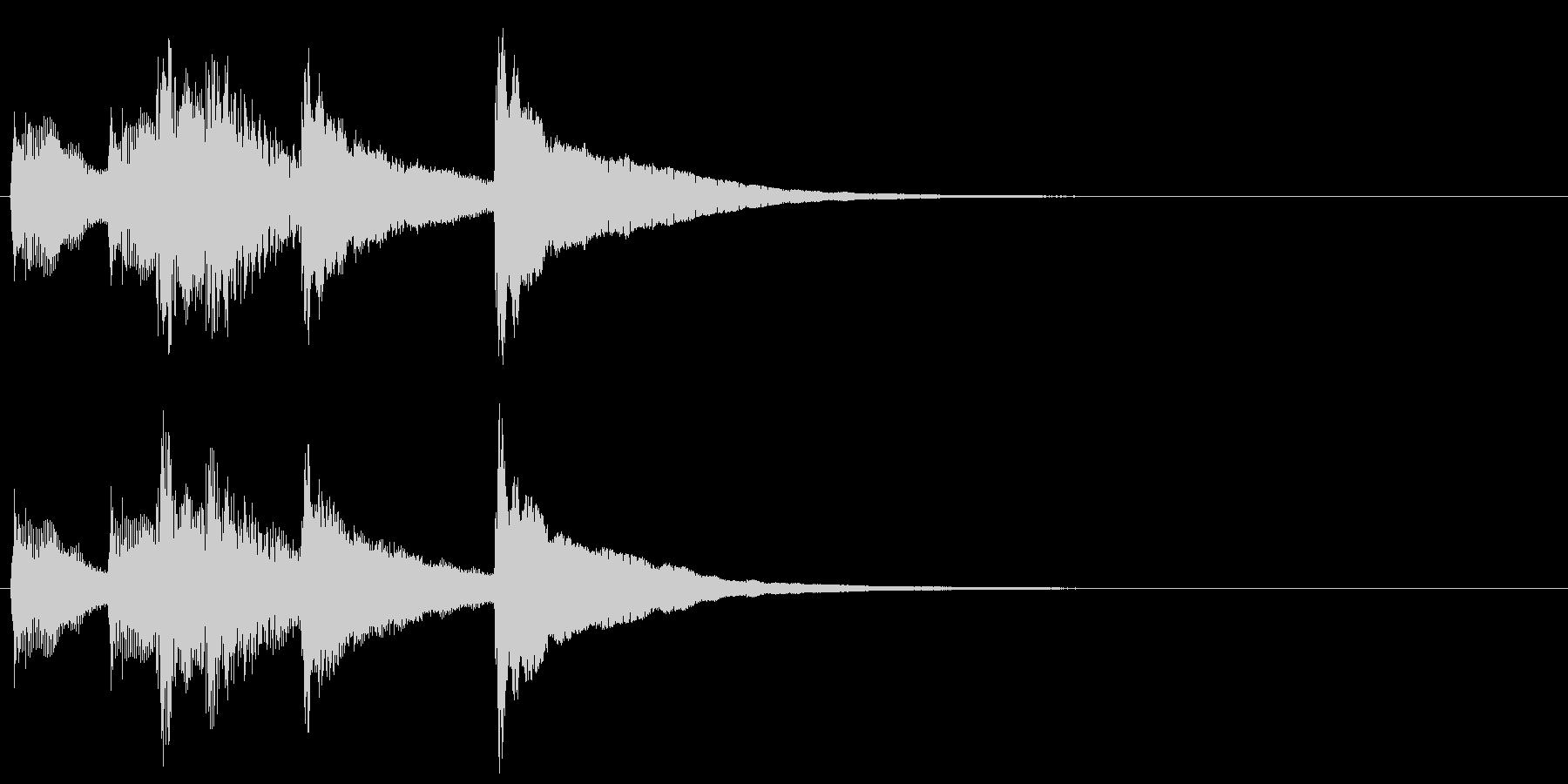 6,明るめのサウンドロゴ (3秒ロゴ)の未再生の波形