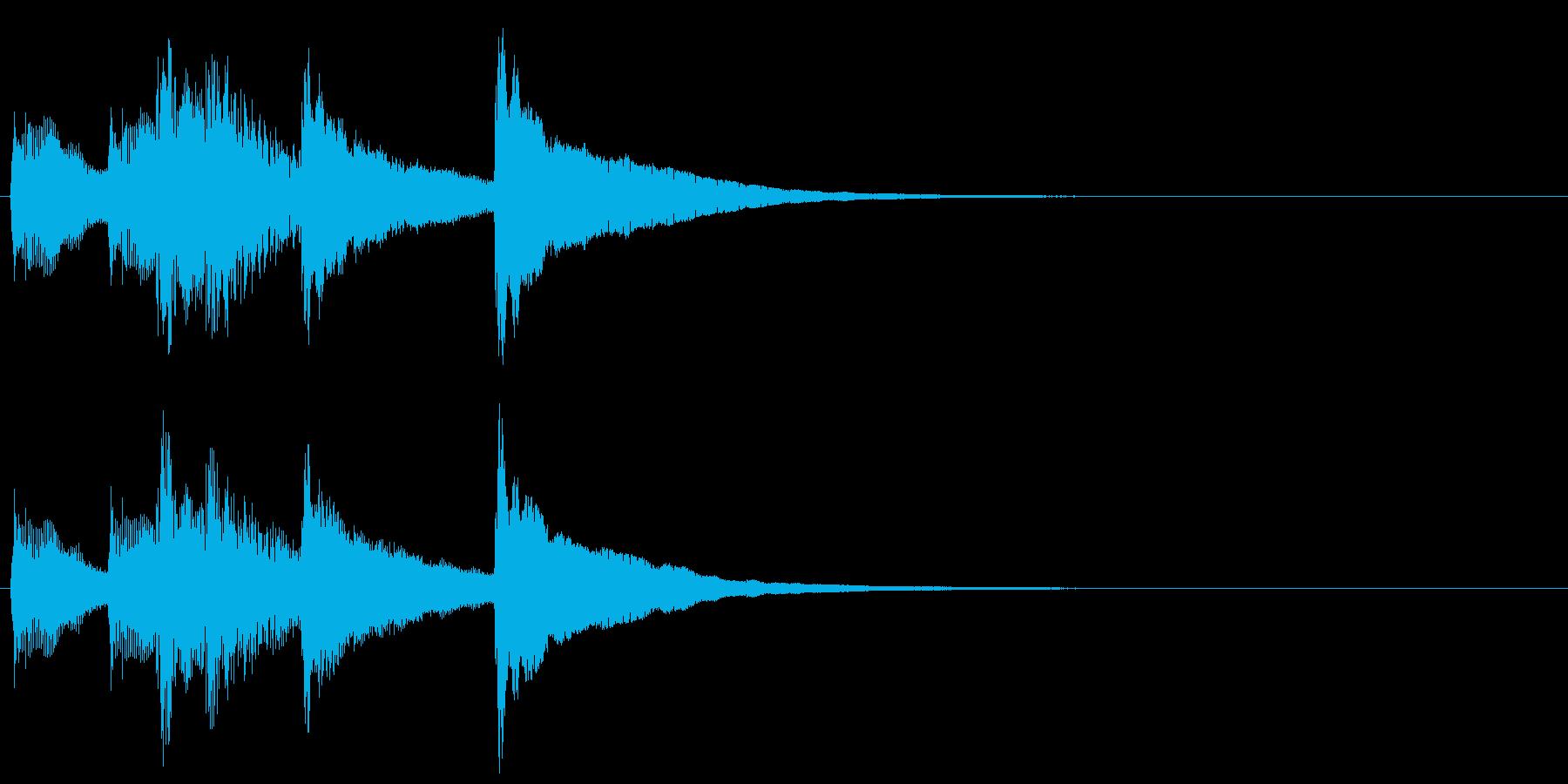 6,明るめのサウンドロゴ (3秒ロゴ)の再生済みの波形