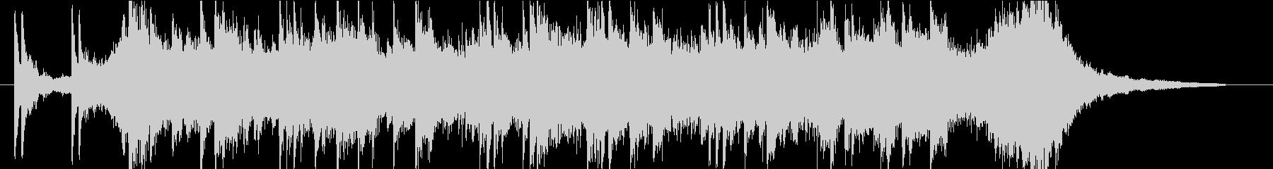 近未来的な激しいピアノ曲/クールなCM風の未再生の波形