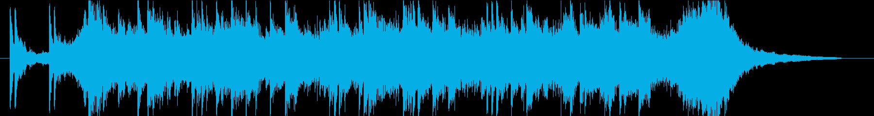 近未来的な激しいピアノ曲/クールなCM風の再生済みの波形