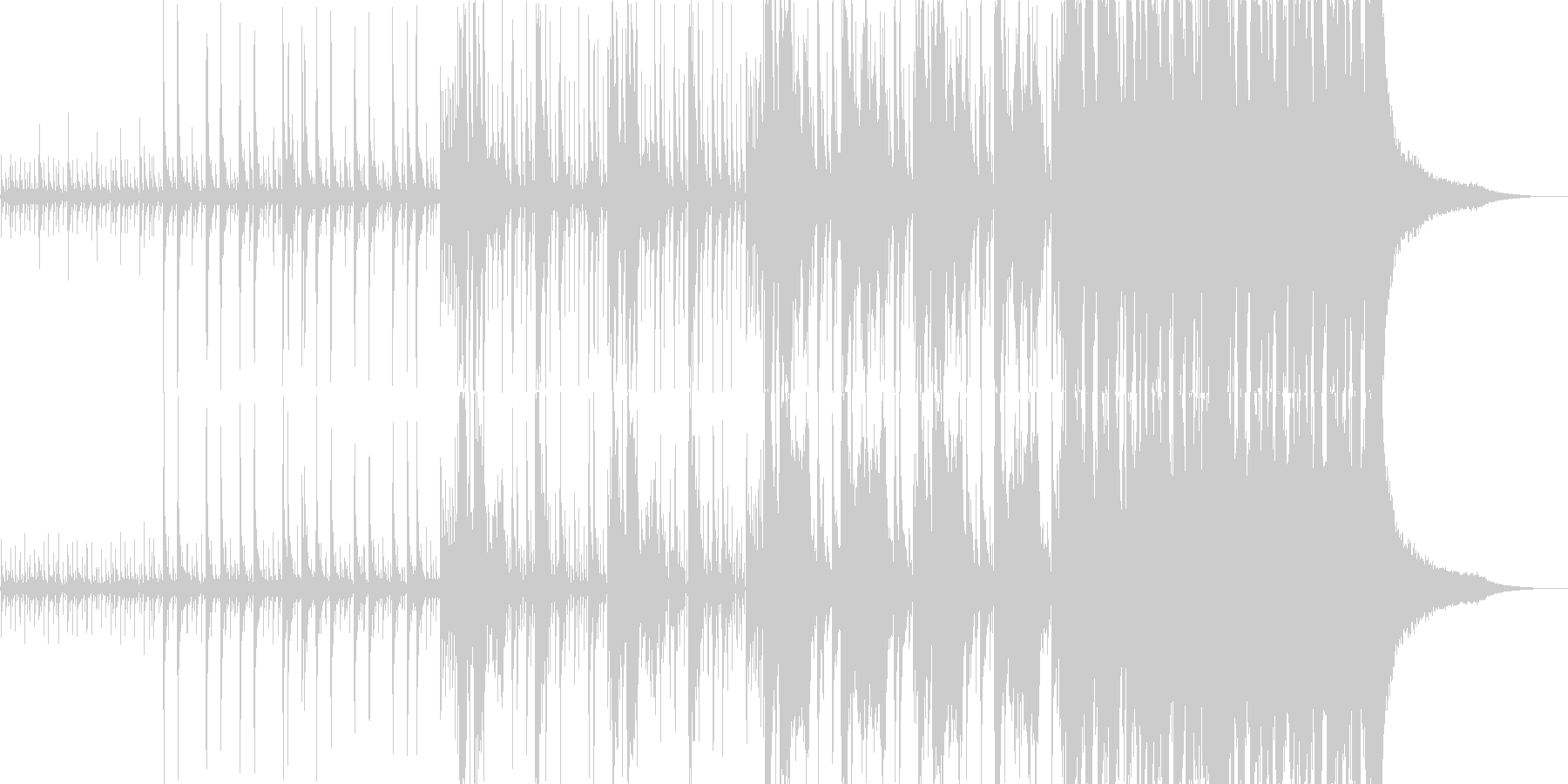 静寂から緊迫シーンなど連想させる壮大な曲の未再生の波形