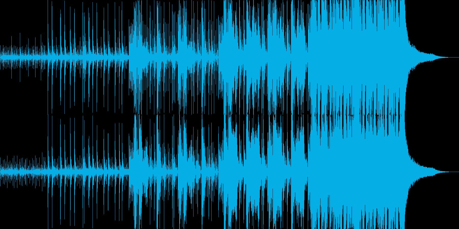 静寂から緊迫シーンなど連想させる壮大な曲の再生済みの波形