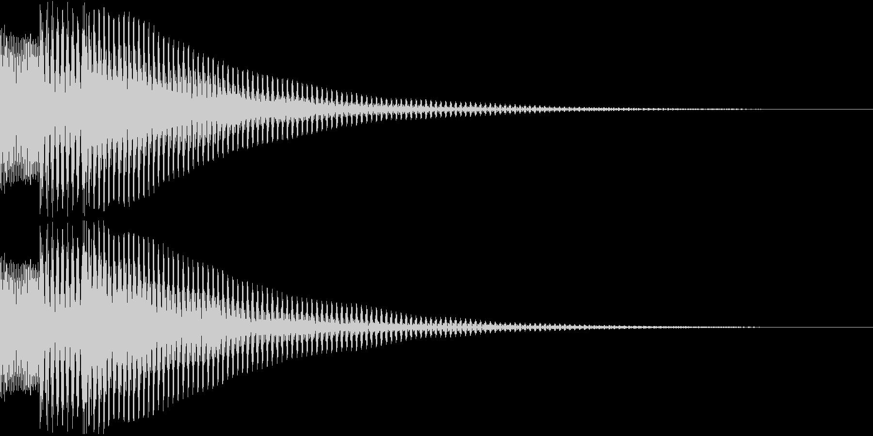 汎用性の高い、ボタン音、決定音の未再生の波形