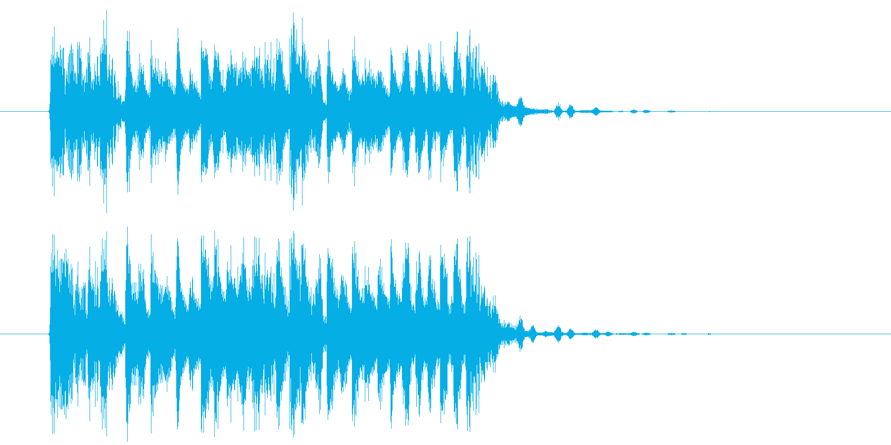 疾走感とドキドキ感のシンセサウンド短めの再生済みの波形