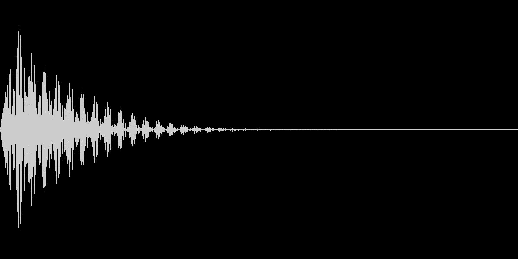 電子的な選択音/ボタン音の未再生の波形