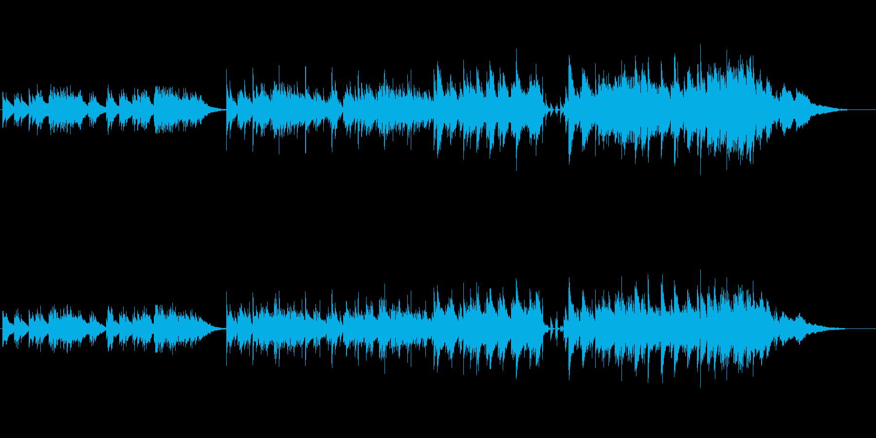 哀愁を誘うニューミュージック風バラードの再生済みの波形