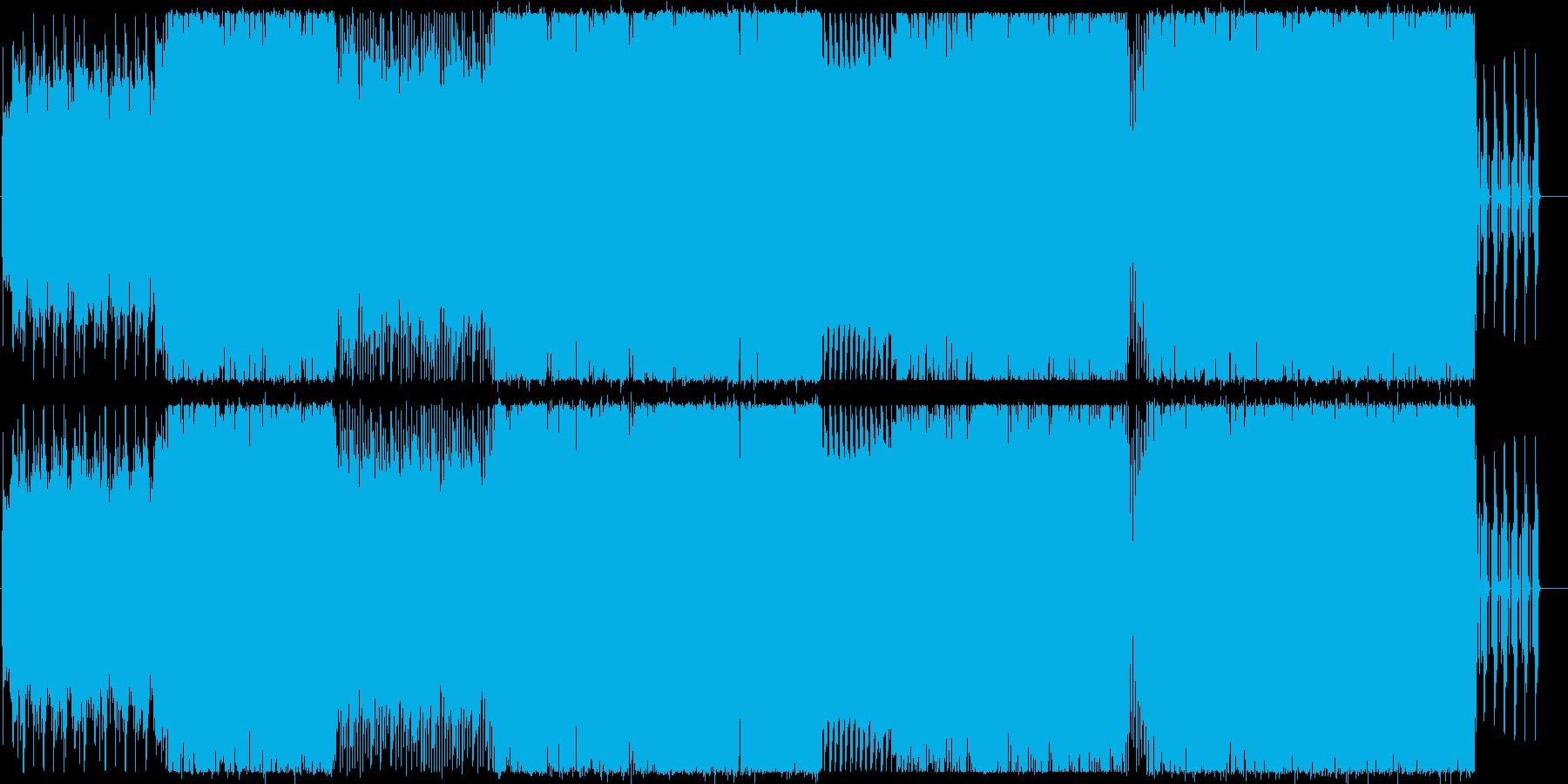 ネジが外れたような狂気を感じるBGMの再生済みの波形