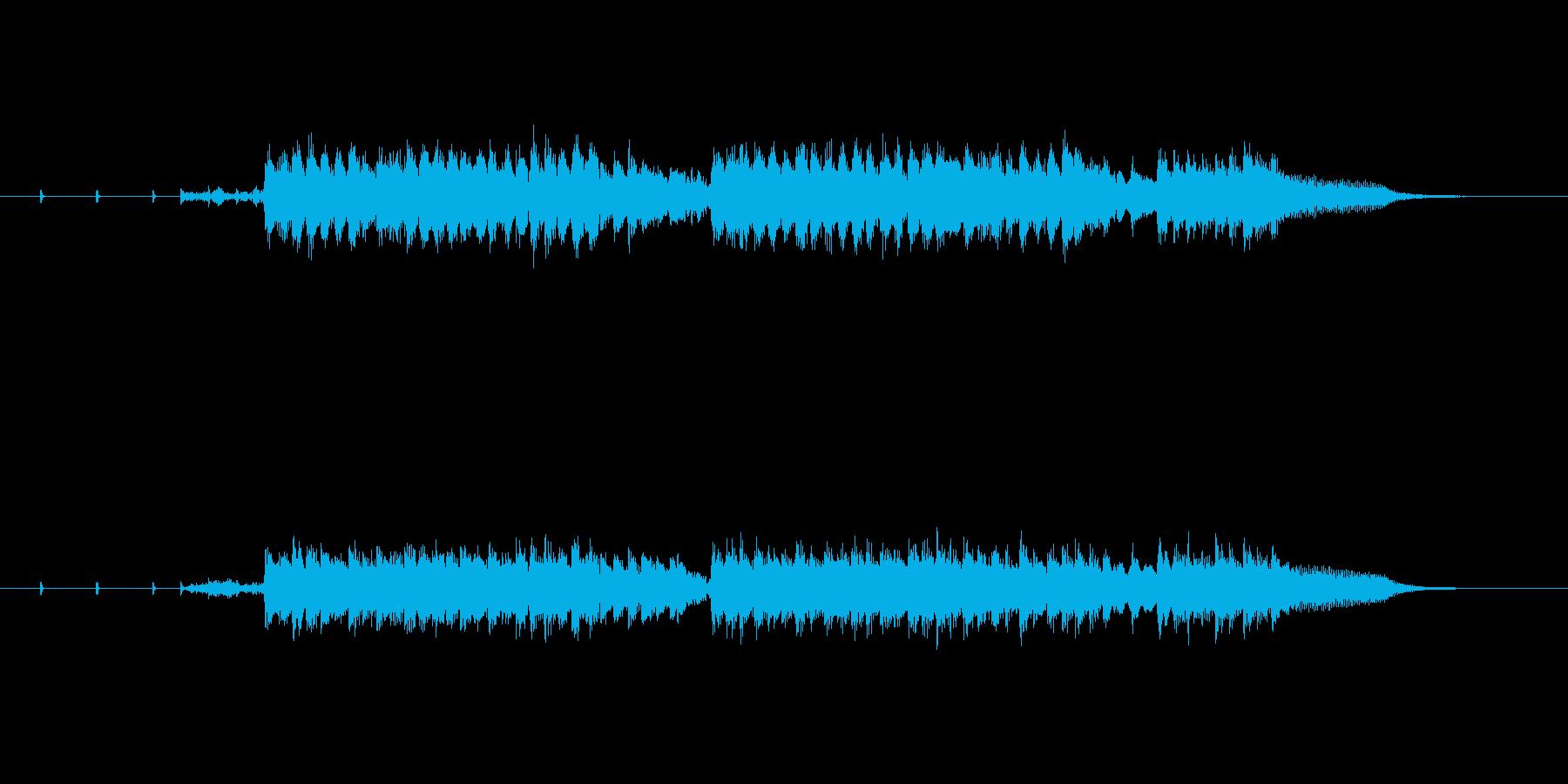 慌てた感じのテクノポップの再生済みの波形