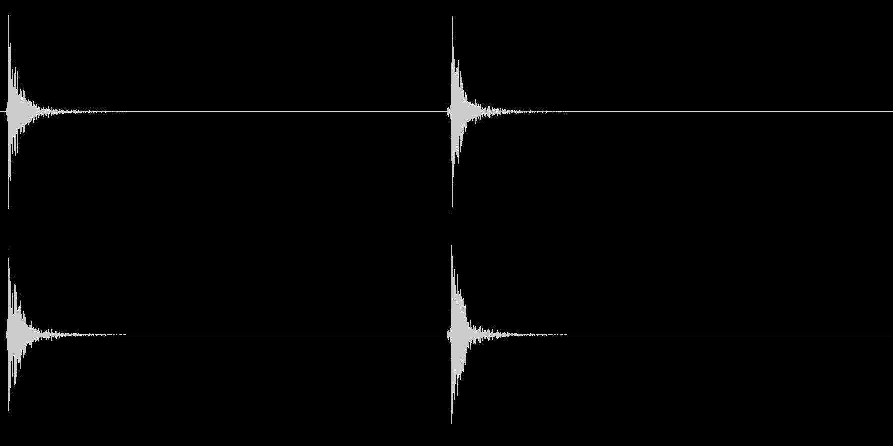 作る/とんかち/建築/連続の未再生の波形