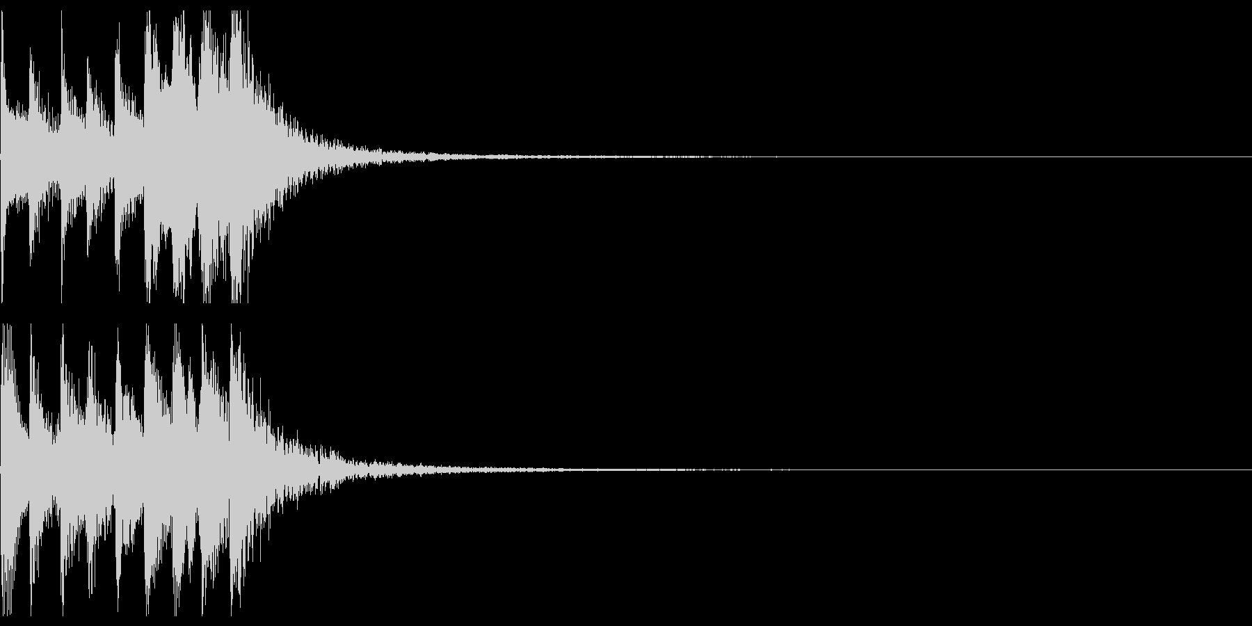 三味線フレーズ03(上昇)の未再生の波形