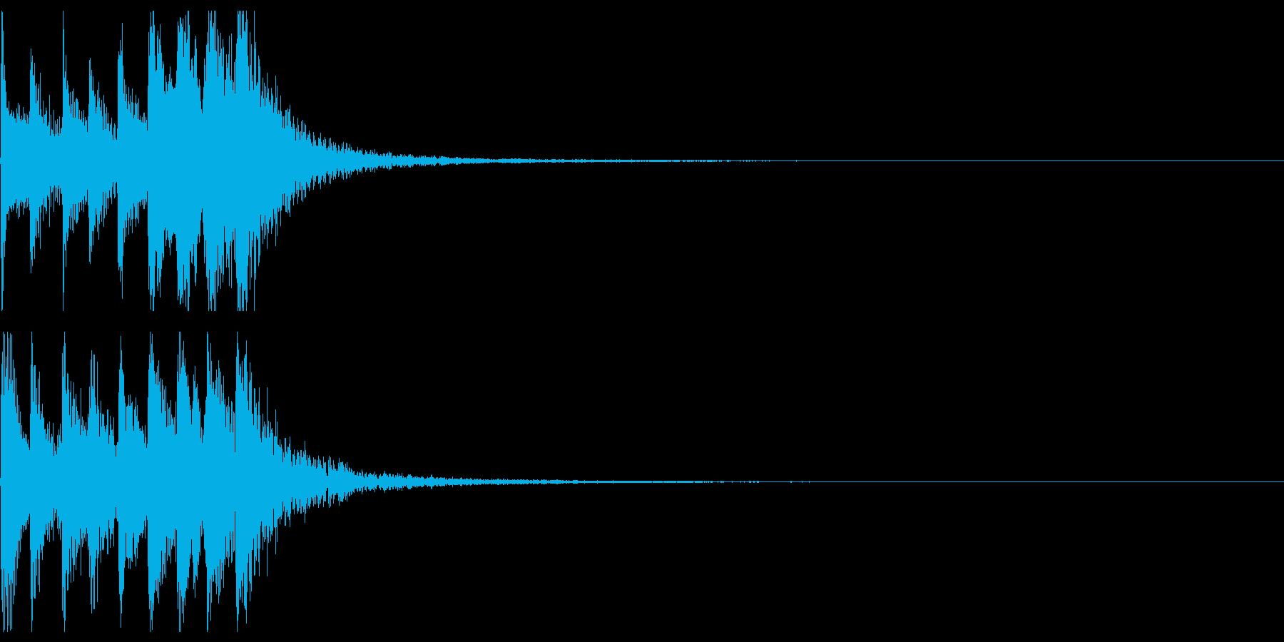 三味線フレーズ03(上昇)の再生済みの波形