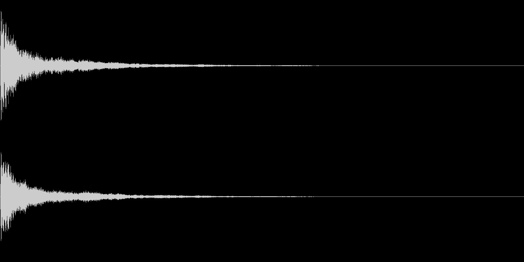 効果音 クリア 正解の未再生の波形