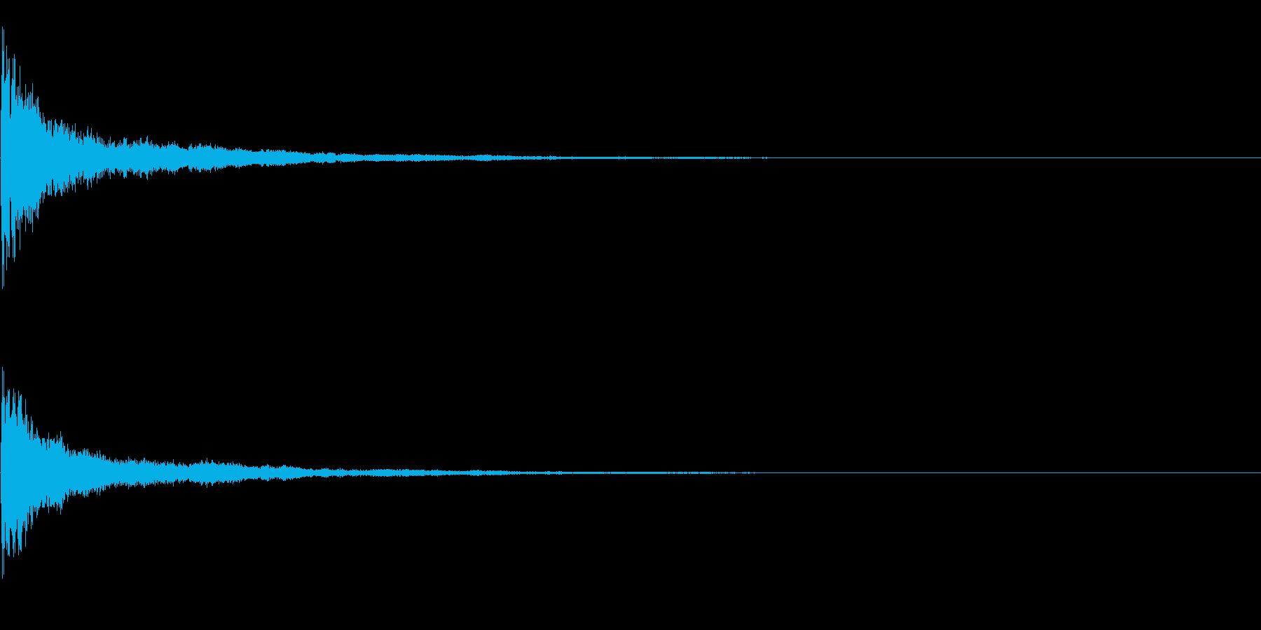 効果音 クリア 正解の再生済みの波形
