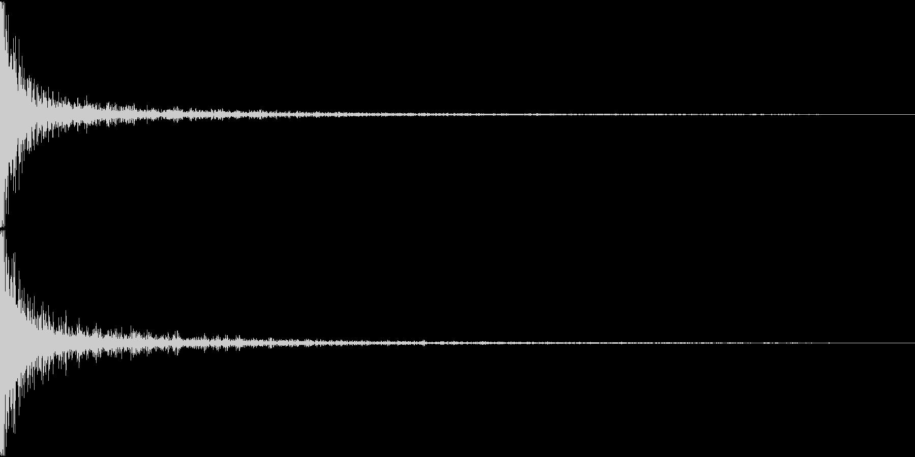 Rifle ライフルでゾンビを打つ音の未再生の波形