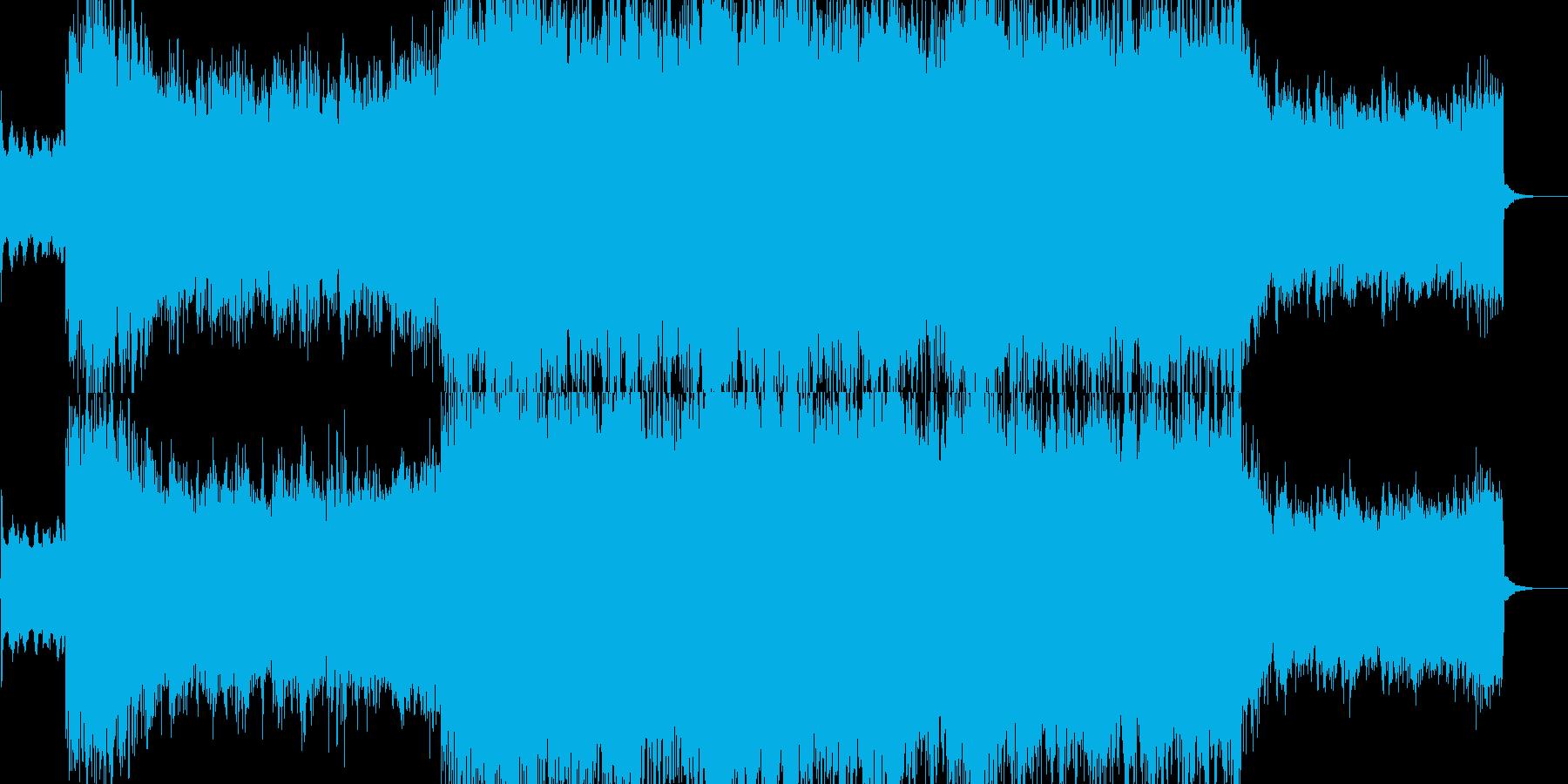 ギター ロック ミディアムテンポの再生済みの波形