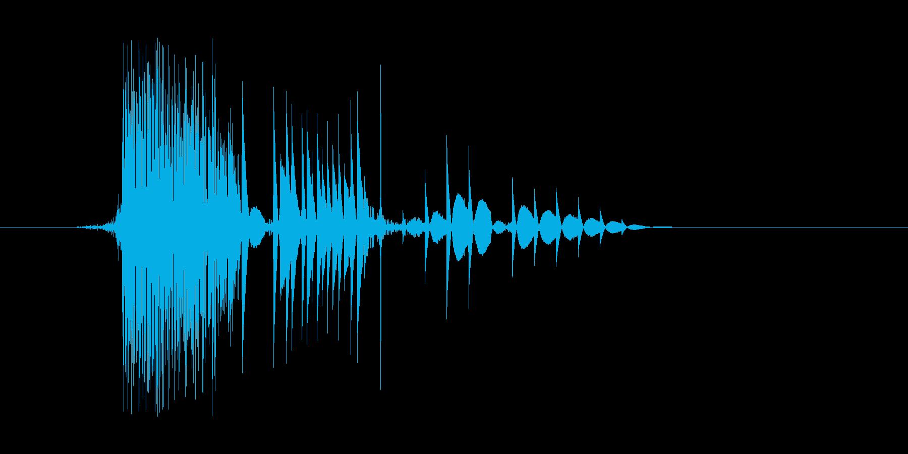 ゲーム(ファミコン風)ヒット音_006の再生済みの波形
