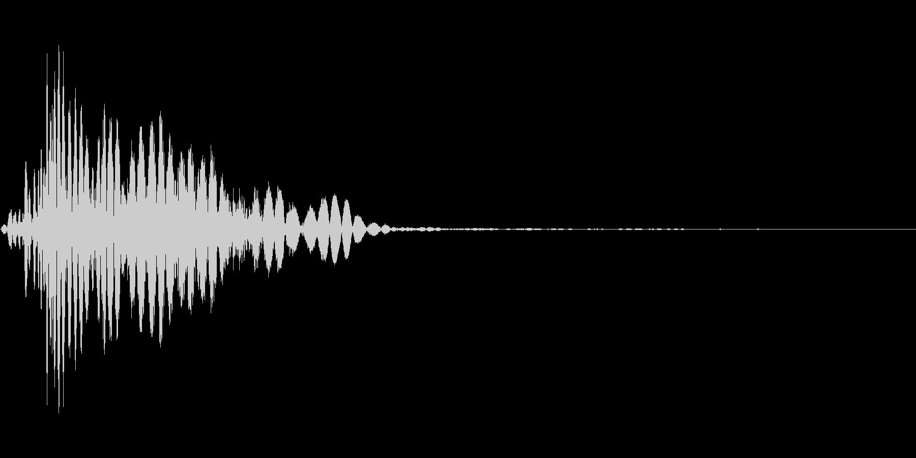 ツッコミ パンチ 1A デュクシの未再生の波形
