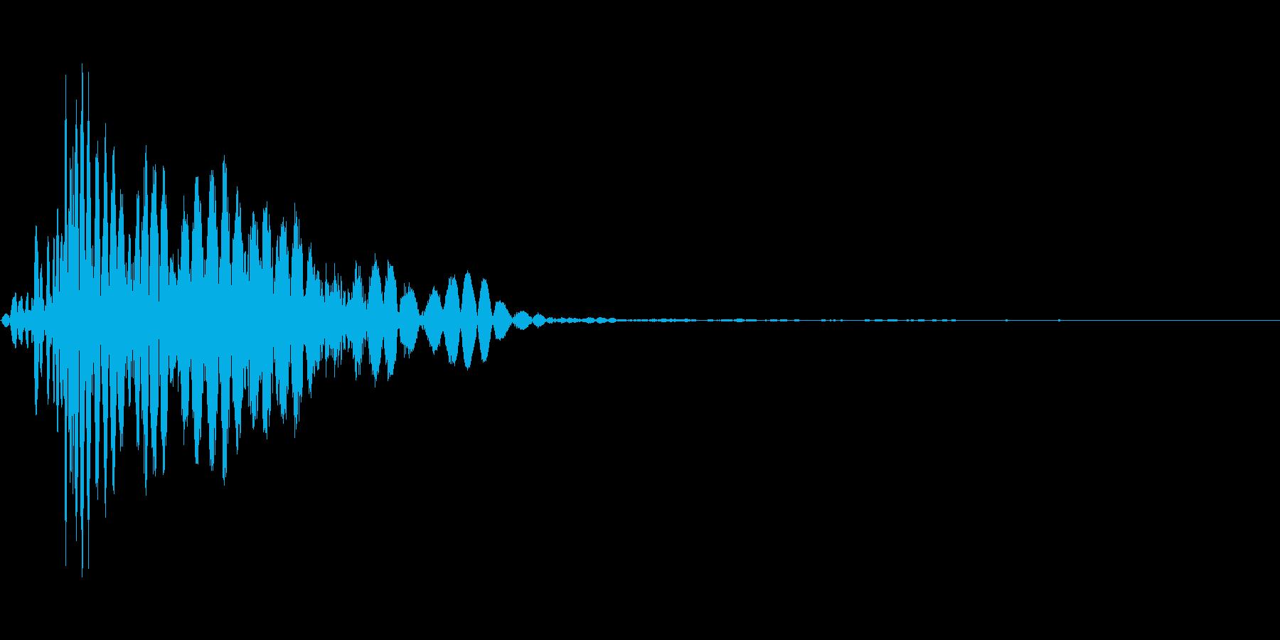 ツッコミ パンチ 1A デュクシの再生済みの波形