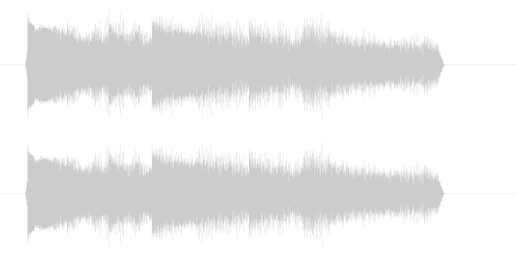 エレキギターのアームダウンの未再生の波形
