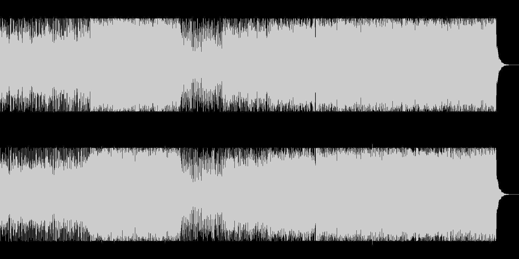 疾走感のあるギターロックとシンセの未再生の波形