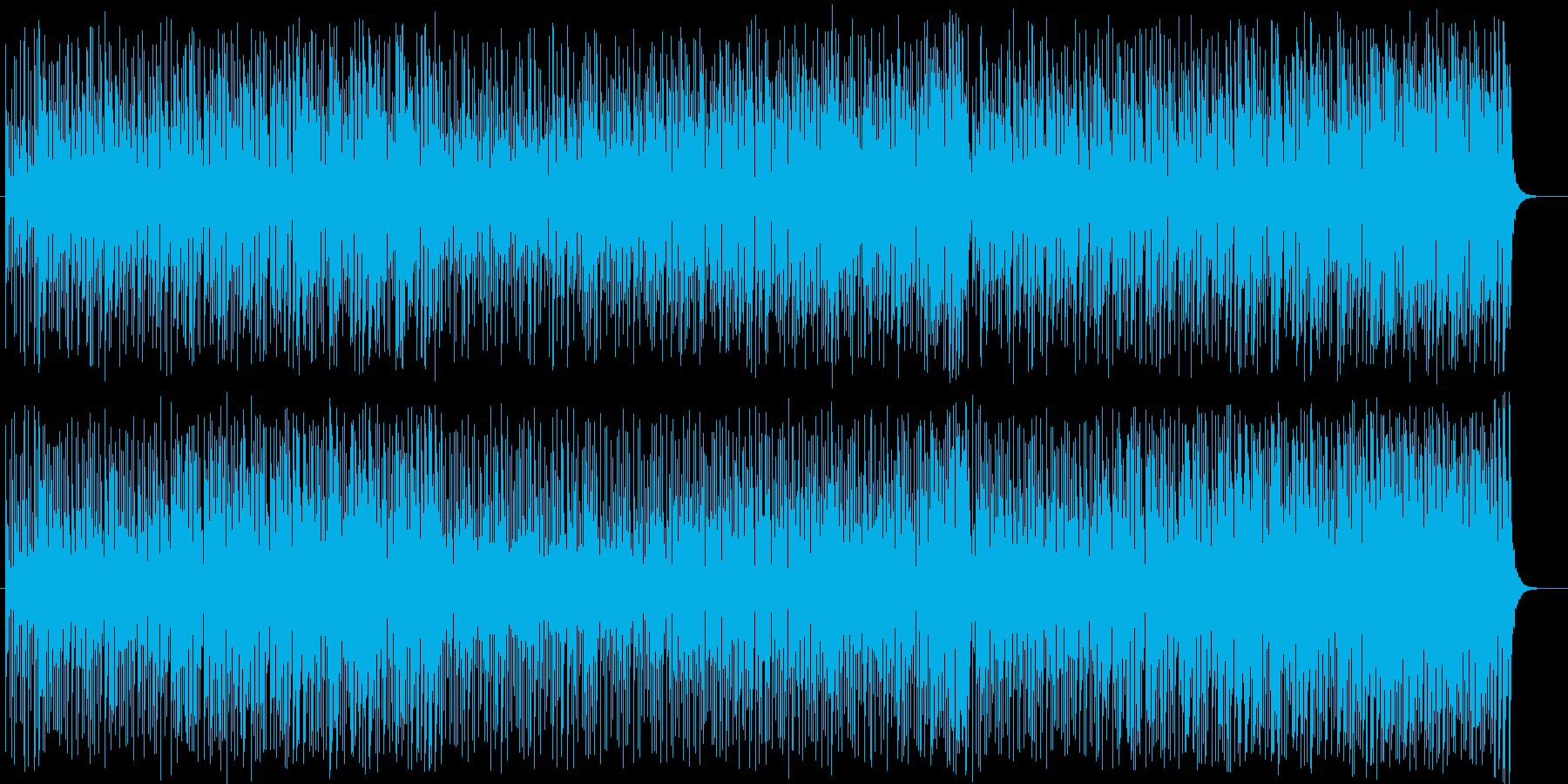 アップテンポのラテンの再生済みの波形