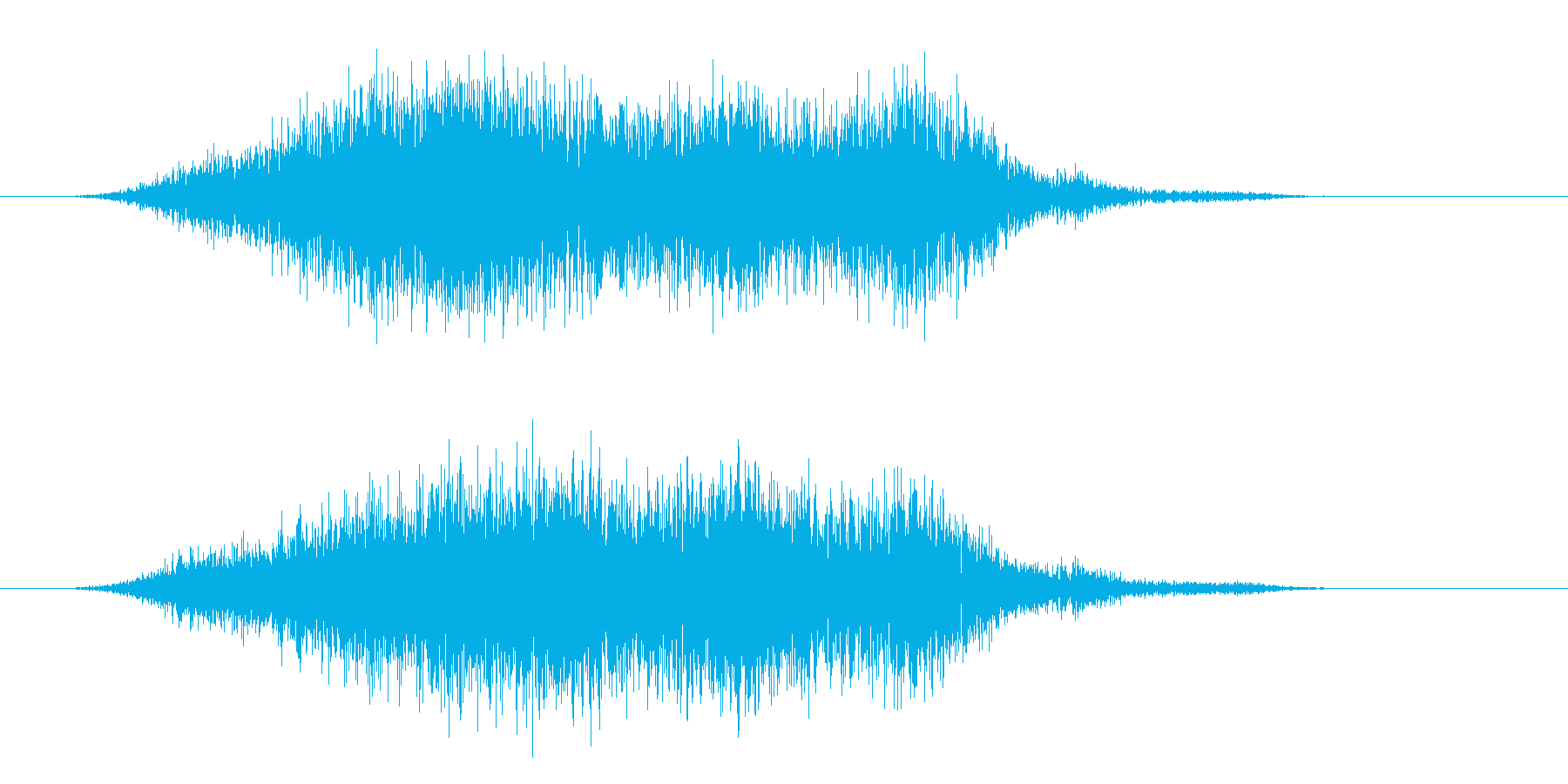 怪しげな登場SEの再生済みの波形