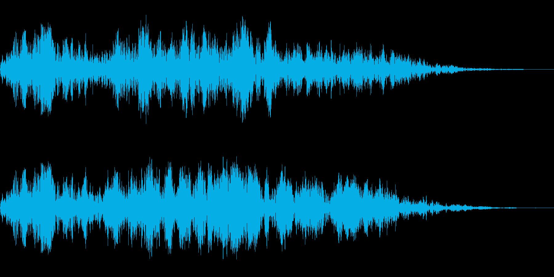 アニメにありそうなエネルギー弾(ポッー)の再生済みの波形
