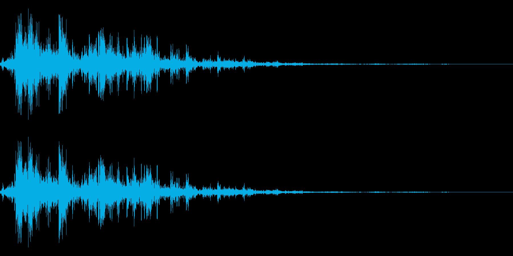 落雷(室内)の再生済みの波形