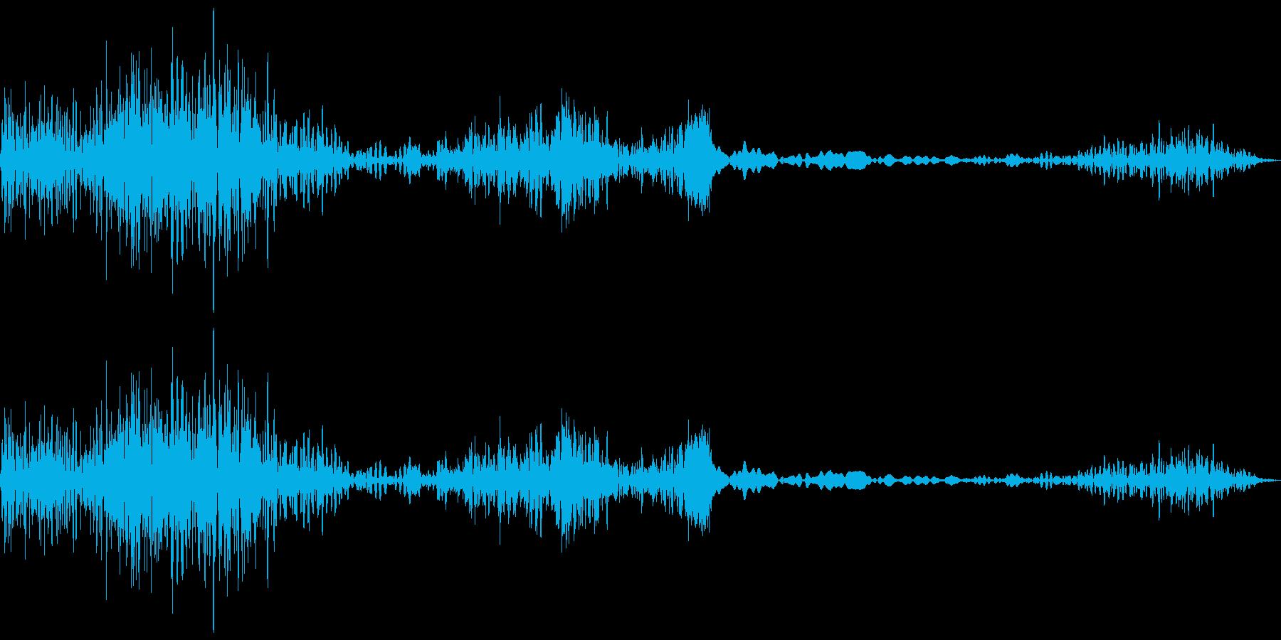 衝撃、ノイズ(バシュシュワ)の再生済みの波形