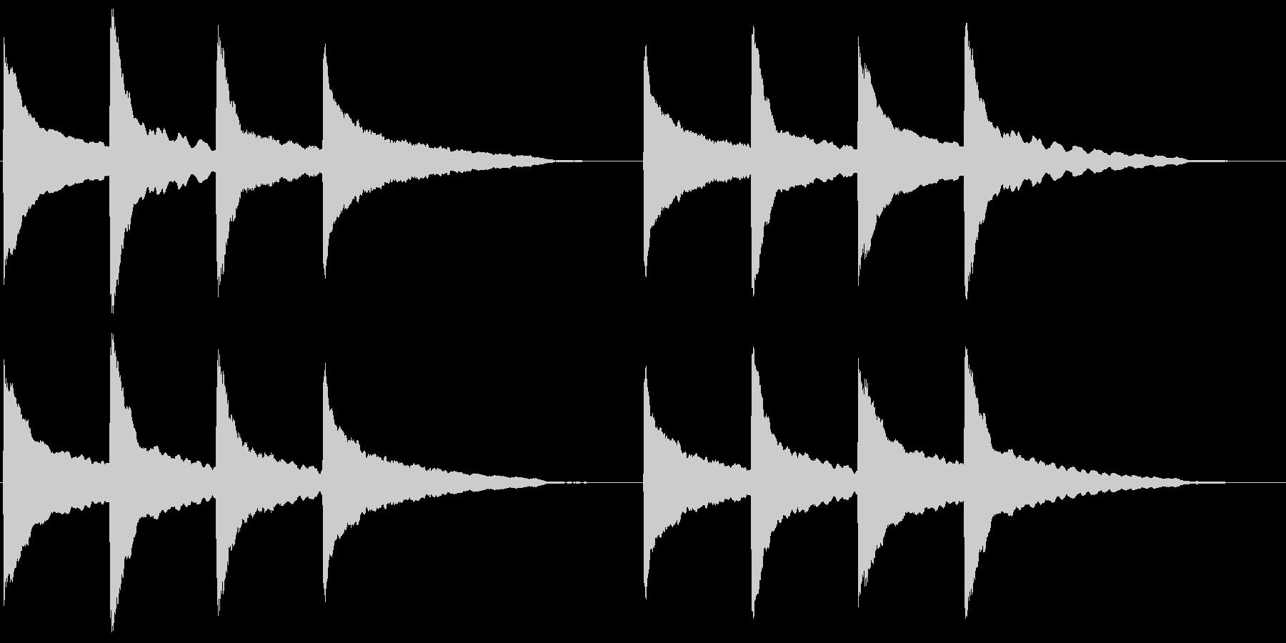 ピンポンパンポン (1)の未再生の波形