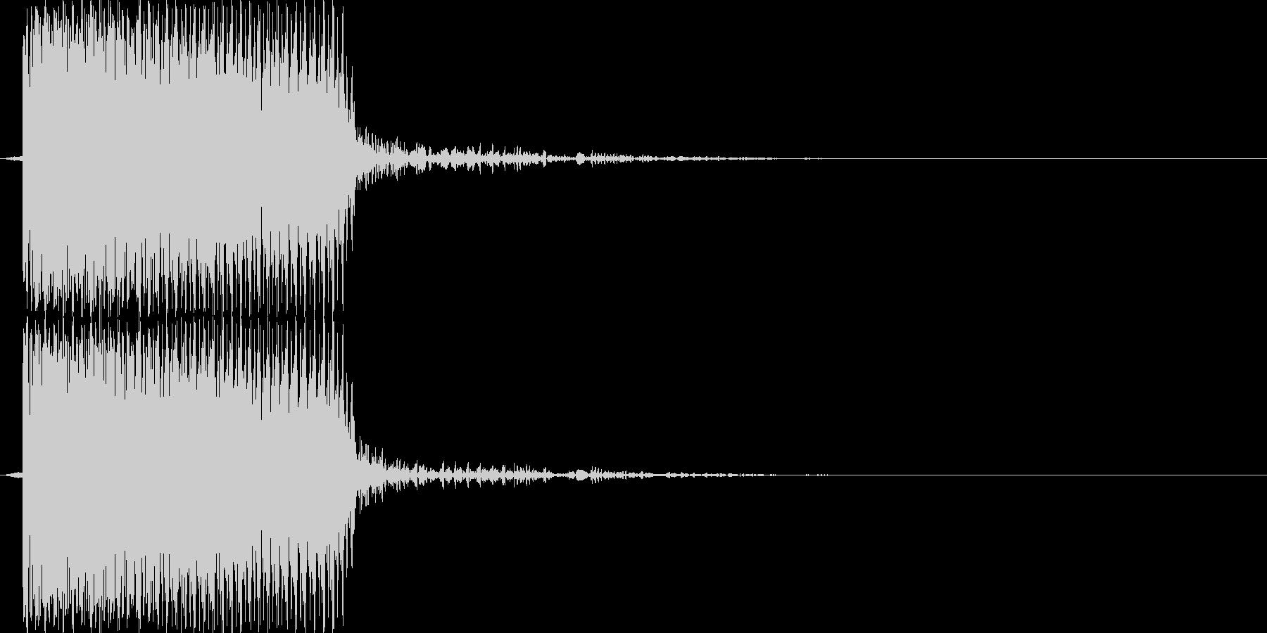 ブブー(エラー音)の未再生の波形