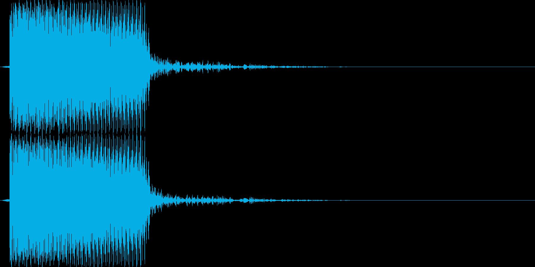 ブブー(エラー音)の再生済みの波形