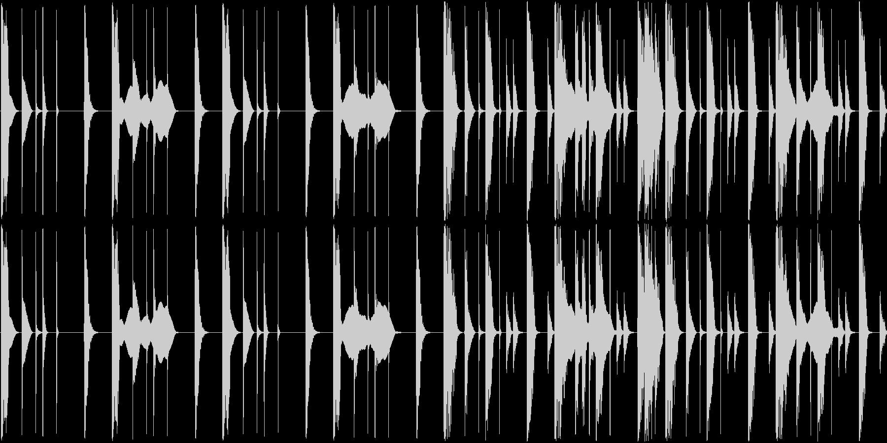 ほぼリズムのみですの未再生の波形