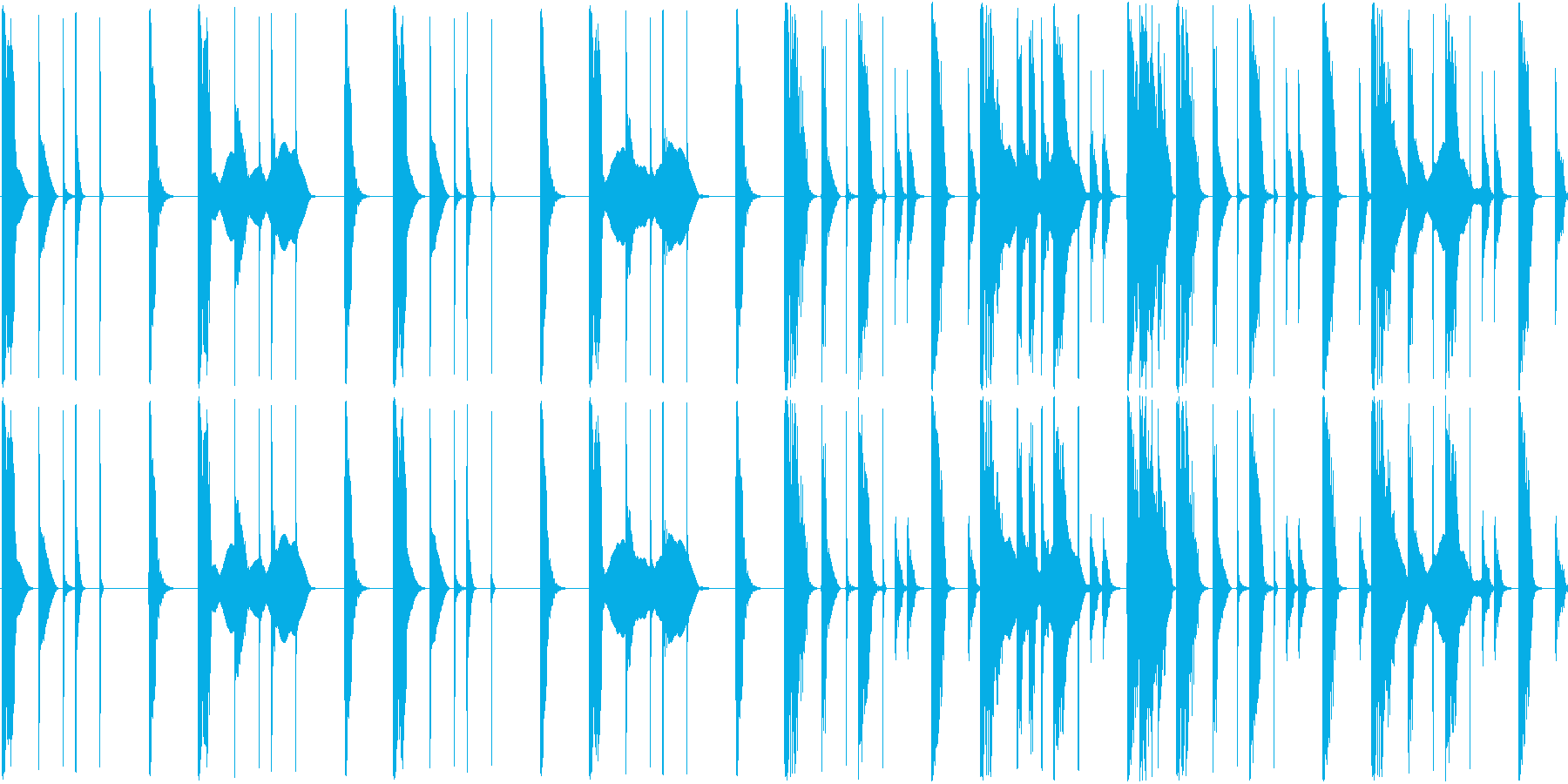 ほぼリズムのみですの再生済みの波形