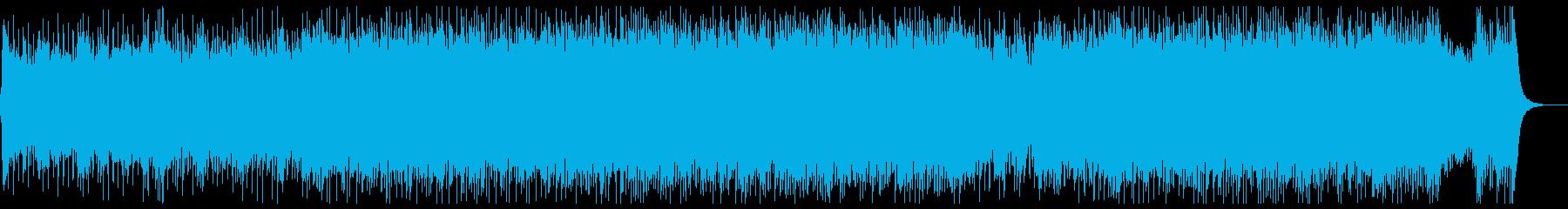 ダークな和風ロック:三味線・尺八・箏・鼓の再生済みの波形