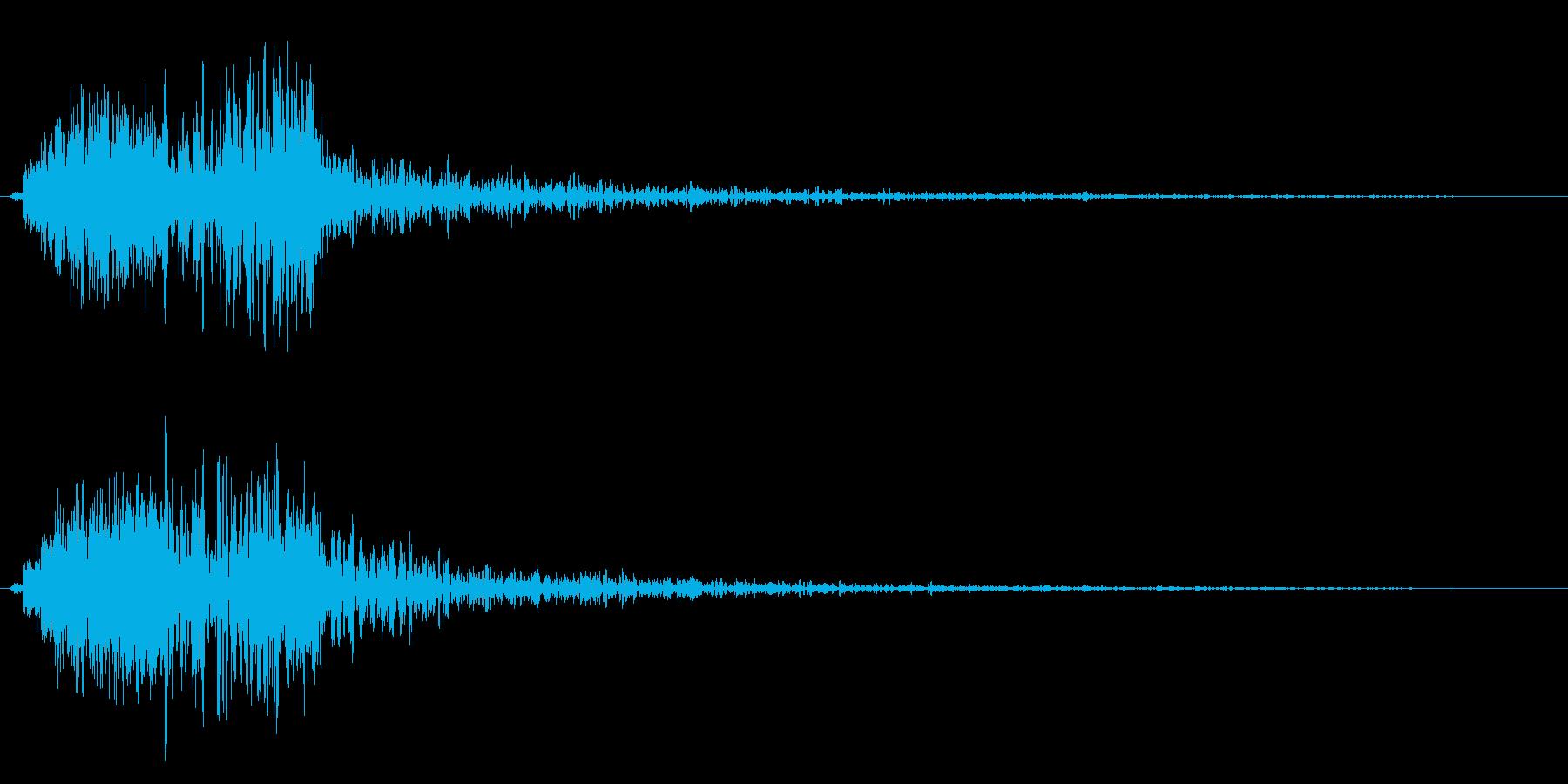 刀を振り払うような時代劇音の再生済みの波形