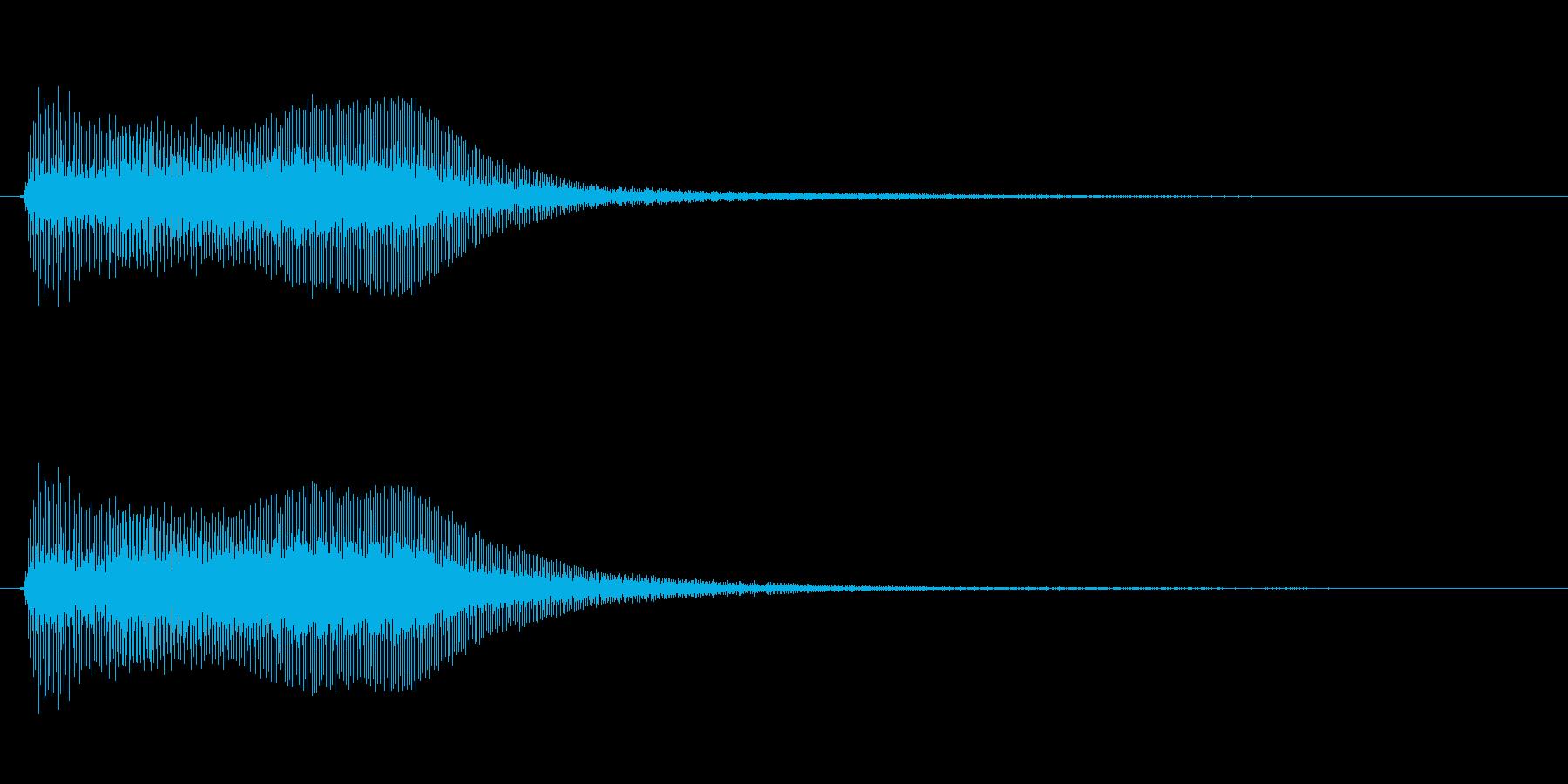 アプリ・ゲーム決定音_002の再生済みの波形