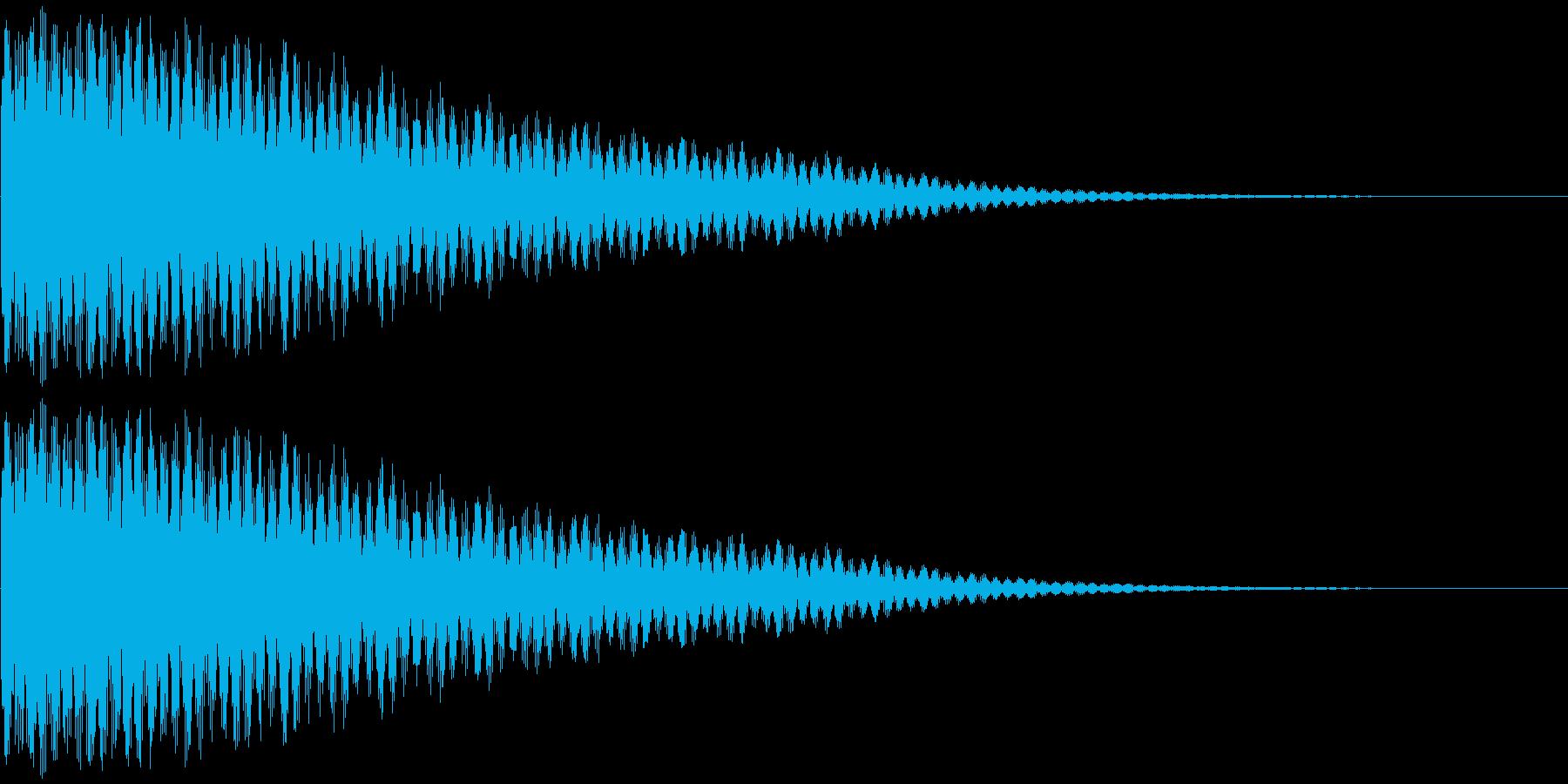 グワァ~~~ン(ショック、驚き、衝撃)の再生済みの波形