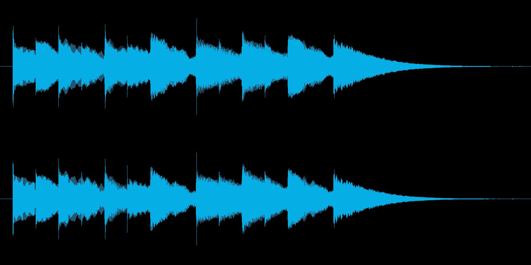 ハイケンスのセレナーデのオルゴールの再生済みの波形