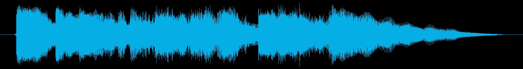 海外ドラマ風 エレキギター クランチの再生済みの波形