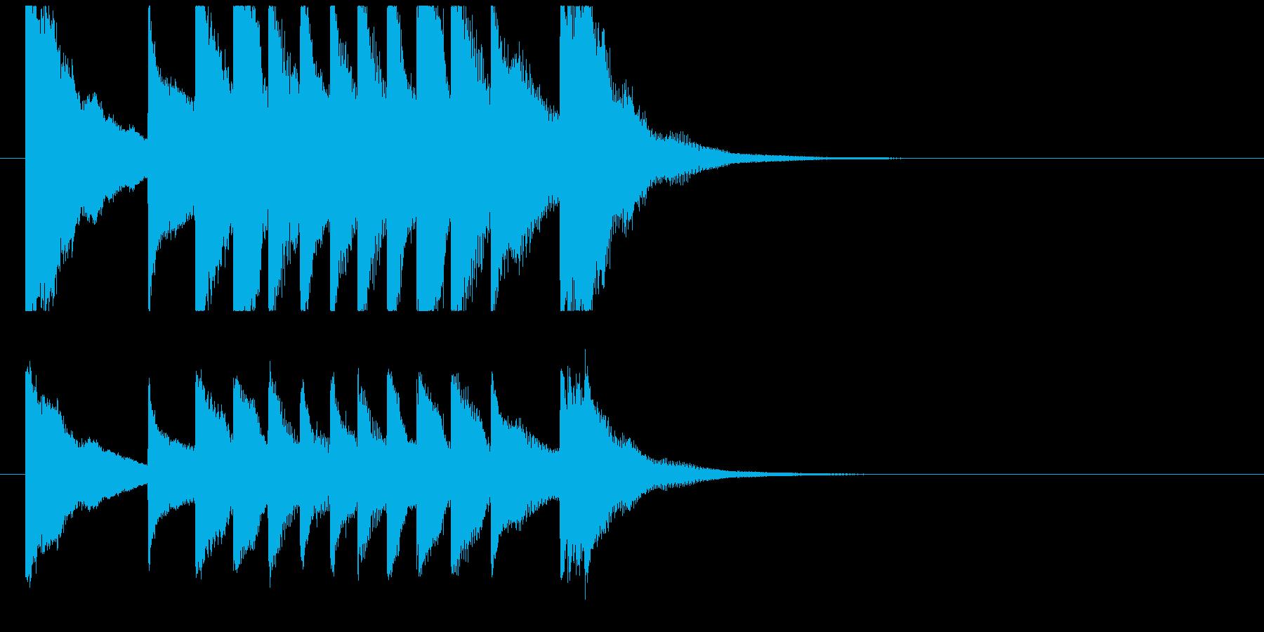 聞き馴染みのある和風・正月系ロゴ(D)の再生済みの波形