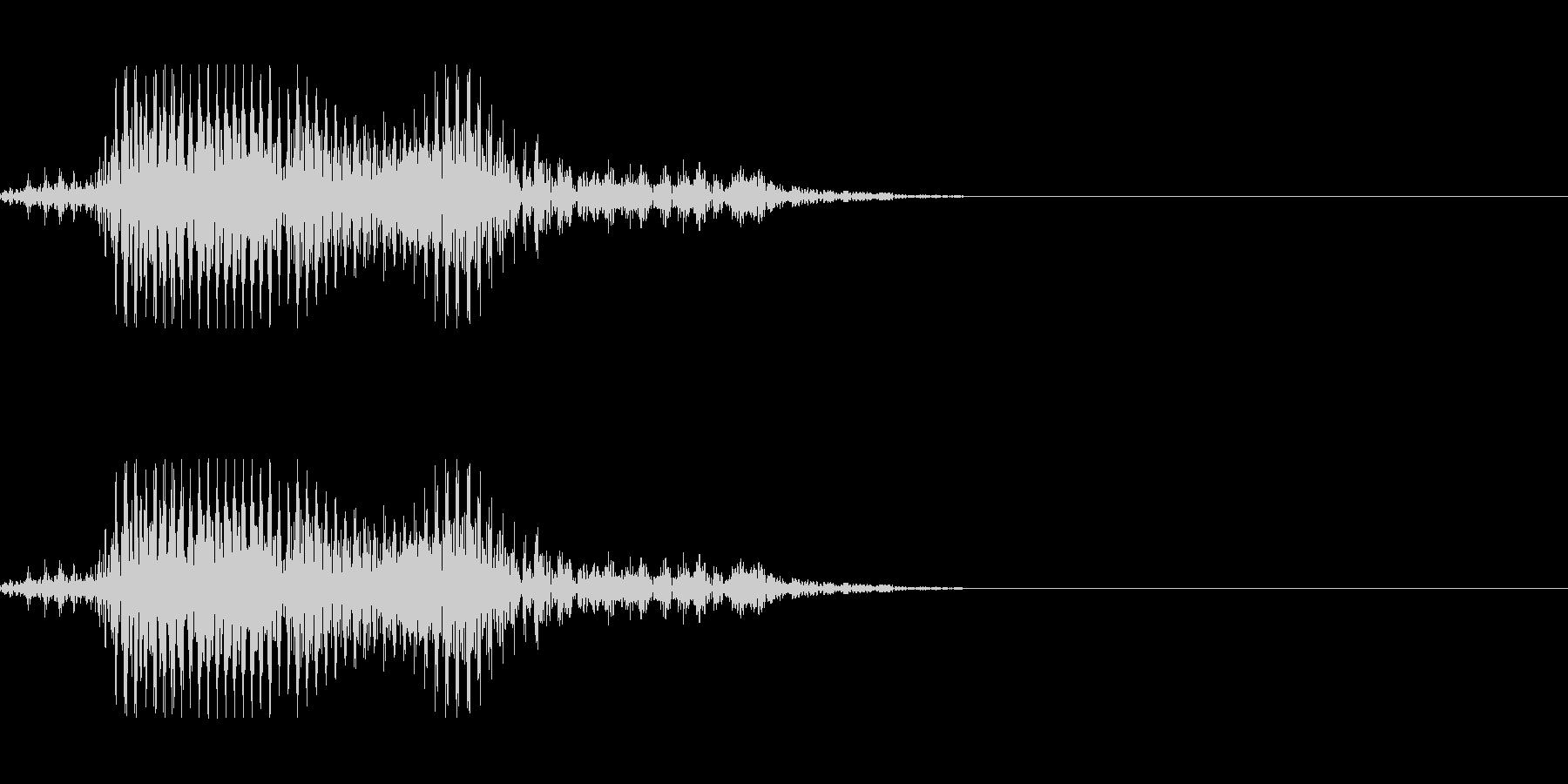 ゾンビの発声に 7の未再生の波形