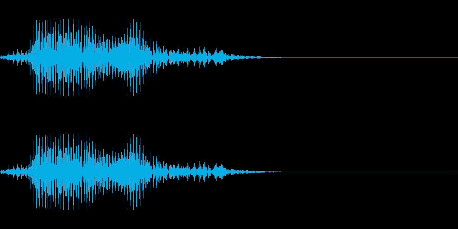 ゾンビの発声に 7の再生済みの波形
