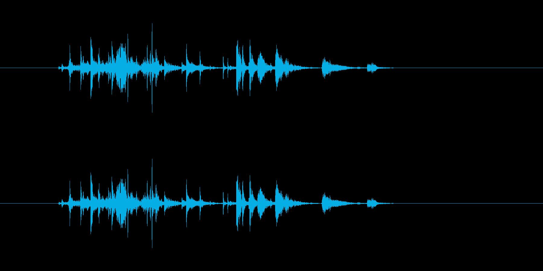 金属音(小銭落下、武器装備などなど)の再生済みの波形