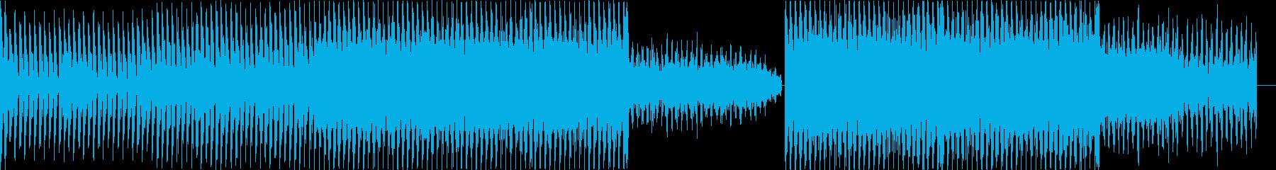クールなテクノトラックの再生済みの波形