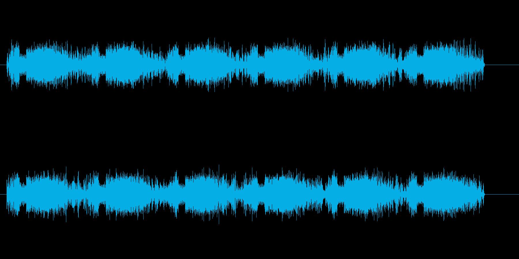 危険を知らせるアラームの音の再生済みの波形
