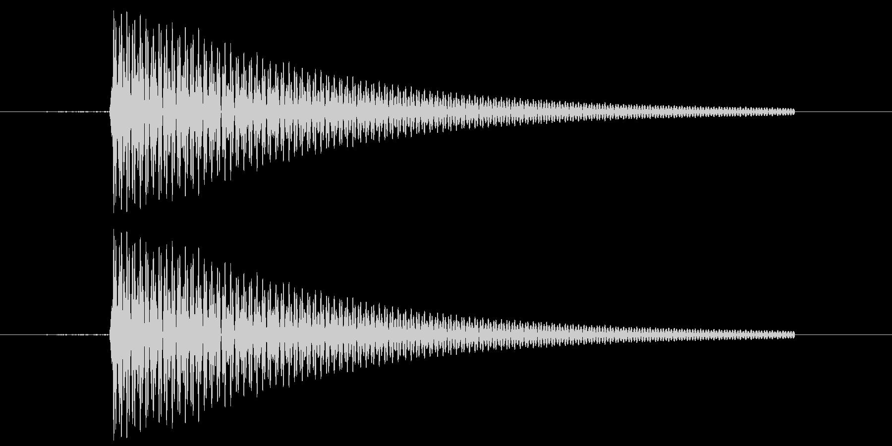 フライパンの音の未再生の波形
