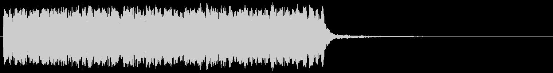 ゲームクリア 明るい高音 正解 場面転換の未再生の波形